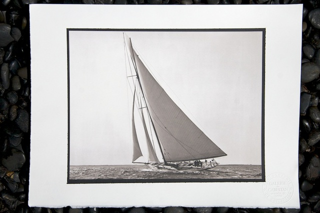 "Detroit Publishing Co., ""Sloop Constitution"" (1903) - Tirage platine-palladium de Laurent Gloaguen"